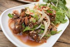 Delizioso piccante dell'insalata piccante tailandese dei pettini: Immagini Stock