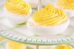 Delizioso uova di Deviled Fotografie Stock Libere da Diritti