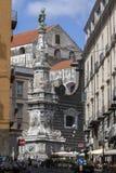 Dell'Immacolata de Guglia à Naples l'Italie images stock