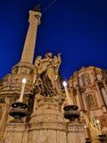 Dell'Immacolata di Colonna in piazza San Domenico, Palermo fotografia stock