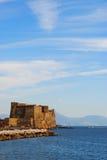 Dell'Ovo de Castel à Naples à la mer Photo libre de droits