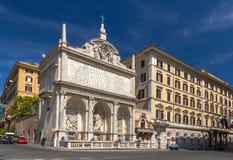 Dell'Acqua Felice di Fontana a Roma Fotografie Stock Libere da Diritti