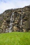 Dell'Acquafraggia de Cascate - Itália Foto de Stock