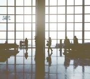 Dell'aeroporto internazionale di concetto della Malesia gente di affari Immagini Stock Libere da Diritti