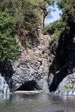 Dell'Alcantara de Gole - un canyon sur la rivière Alcantara sicily Photos stock
