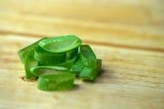 Dell'aloe di Vera del gel uso quasi nella medicina dell'alimento e nell'industria di bellezza Immagine Stock