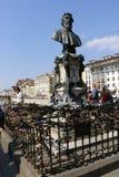 Dell'amore di Lucchetti, Firenze, Italia Immagini Stock Libere da Diritti