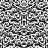 Dell'annata modello swirly Fotografia Stock