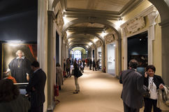 Dell'Antiquariato Firenze för Florence International tvåårig antikviteter Art Fair - Biennale Arkivfoton