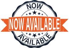 Dell'arancia distintivo disponibile di web del timbro di gomma della rottura ora Immagine Stock