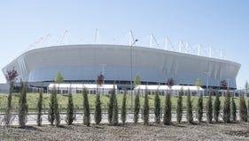 ` Dell'arena di Rostov del ` dello stadio, sviluppato per la coppa del Mondo 2018 immagine stock libera da diritti