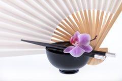 Dell'Asia orchidea di vita ancora Fotografia Stock