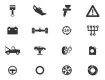 Dell'automobile di servizio icone semplicemente Immagine Stock