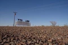 Dell City undertecknar in Texas Fotografering för Bildbyråer