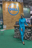 Dell company booth at CEE 2015, the largest electronics trade show in Ukraine Stock Photos