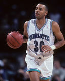 Dell Curry, Charlotte Hornets. Charlotte Hornets guard Dell Curry #30. (image taken from color slide Royalty Free Stock Image