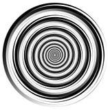 Dell'estratto elemento a spirale Filando, grafico di vortice concentrico Fotografia Stock