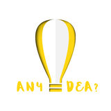 Dell'idea? espressione con la lampadina Immagini Stock Libere da Diritti