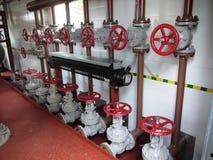 Dell'interiore stazioni industriali all'interno per i distr del gas Fotografie Stock