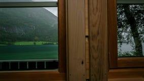Dell'interno del tempo-laspe di Mindresunde Norvegia di campeggio video d archivio