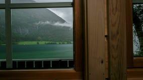 Dell'interno del tempo-laspe di Mindresunde Norvegia di campeggio archivi video