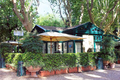 Dell Orologio de Casina do La do restaurante, casa de campo Borghese, Roma Fotografia de Stock