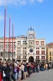dell'Orologio de Torre em Veneza, Italy Foto de Stock