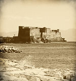 dell'Ovo de Castel - Nápoles - Italia fotos de archivo