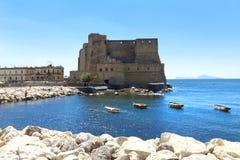 Dell'Ovo de Castel, Nápoles, Italia Imágenes de archivo libres de regalías
