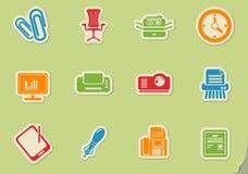 Dell'ufficio icone semplicemente Fotografia Stock