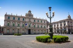 Dell'Universita de Palazzo, centro de ciudad de Catania, Sicilia Imagen de archivo libre de regalías