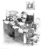 Dell'uomo d'affari secolo 20 presto illustrazione vettoriale