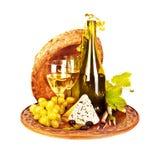 Dell'uva del vino vita ancora Immagine Stock Libera da Diritti