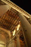 della万神殿广场圆形建筑的罗马 免版税库存照片