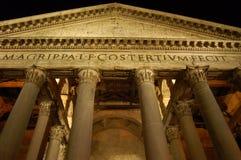 della万神殿广场圆形建筑的罗马 免版税库存图片