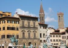 della佛罗伦萨意大利广场signoria托斯卡纳 免版税图库摄影