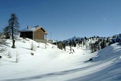 della意大利横向月神monti冬天 图库摄影