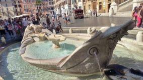 Della Barcaccia di Fontana Fotografie Stock Libere da Diritti
