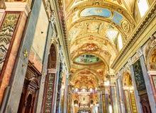 Della Beata Vergine del Ροσάριο Santuario Ιταλία Πομπηία Στοκ Φωτογραφίες