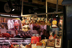 Della Boqueria de Mercato, Barcellona Fotos de Stock Royalty Free