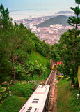 Della cabina di funivia collina di Penang giù immagini stock