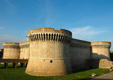 della castle Włoch rovere średniowieczny senigallia obraz stock