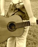 Della chitarra parte posteriore dietro Immagini Stock
