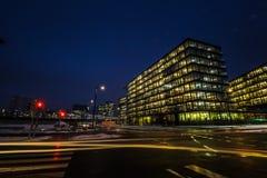 ` Della città di Bahnhof del ` un nuovo distretto a Vienna Immagini Stock Libere da Diritti