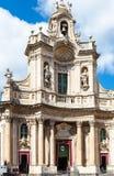 Della Collegiata de la basílica encendido vía Entnea, Catania Imagenes de archivo