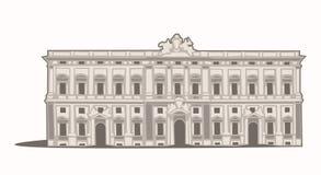 Della Consulta de Palazzo Fotografía de archivo libre de regalías