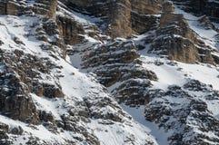 Della Croce στους δολομίτες χειμερινής εποχής, Val Badia, Trentino - Alto Adige, Ιταλία Sasso Στοκ φωτογραφίες με δικαίωμα ελεύθερης χρήσης