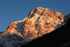 Della Croce στους δολομίτες χειμερινής εποχής, Val Badia, Trentino - Alto Adige, Ιταλία Sasso Στοκ Εικόνα