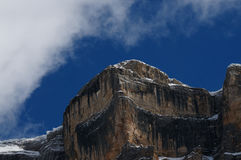 Della Croce en dolomías de la estación del invierno, Val Badia, Trentino - Alto Adige, Italia de Sasso Fotografía de archivo