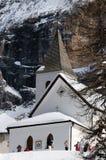 Della Croce - Ospizio Santa Croce - Chiesa Santa Croce di Sasso nell'ambito del gruppo nelle dolomia italiane, Trentino, AIS di C Fotografia Stock Libera da Diritti